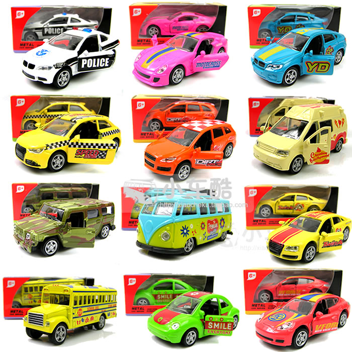 Boxed 4 your good friend mini bus school bus sports car 4wd alloy WARRIOR open the door car model toy(China (Mainland))