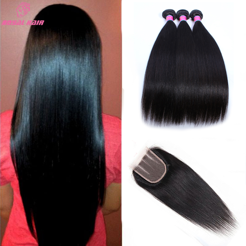 Straight Brazilian Virgin Hair With Closure Queen Hair Products With Closure Bundle Cheap Brazilian Hair 4 Bundles Straight Hair<br><br>Aliexpress