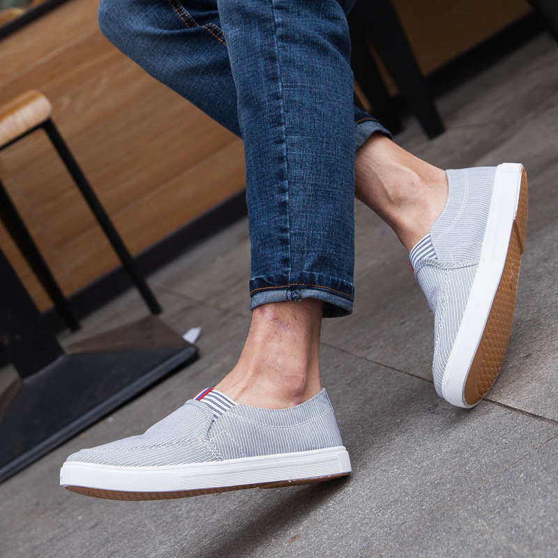 2016 Summer Fashion Trend Breathable Flat Men Shoes Casual Slip On Popular Outdoor Shoes Men Round Toe Canvas Shoes Male EM25