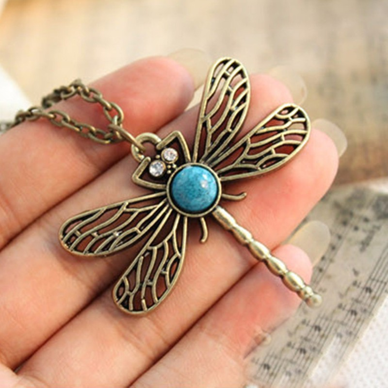 N379-Vintage-Hollow-Dragonfly-Pendants-Necklaces-Women-Antique-Gold-Plated-Jewelry-Accessories-2016-Collares-Wholesales