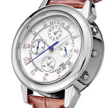 Hombres reloj de la marca de lujo auto deportivo reloj fecha militar Leather Look cuarzo Masculino Relogio