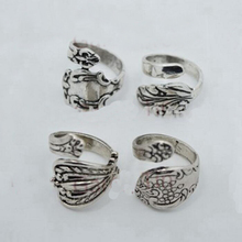 New Arrival !!Exquisite Jewelry drop shipping vintage silver spoon ring(China (Mainland))