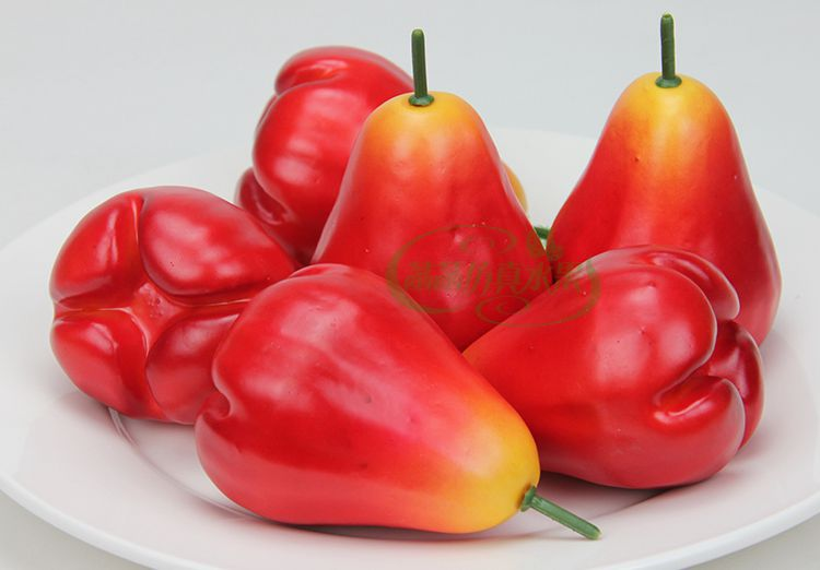 Artificial Wax Apple Furit Painting Model Home Decoration Photography Show Props Artificial wax apple(China (Mainland))