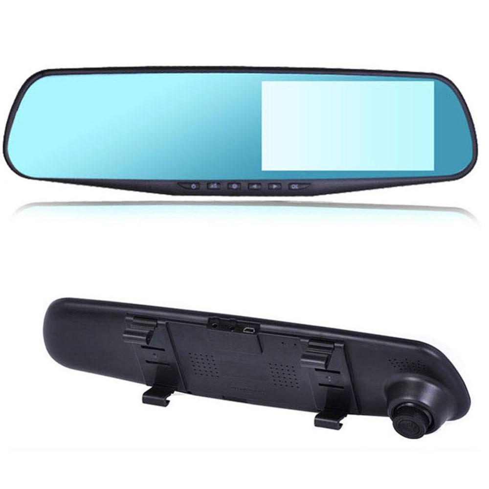 blue mirror dvr car dvr camera rearview mirror dash cam g sensor hd 1080p 4 3 39 39 140 degree high. Black Bedroom Furniture Sets. Home Design Ideas