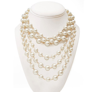 2014 Fashion Pearl Necklace Pendant Women Jewelry Statement Necklace Chain Long Brand Girl Accessories Wholesale Free Shipping(China (Mainland))