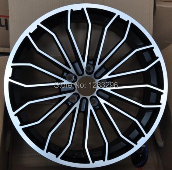 17 inch 5x100/108/112/114.3 matt black/black chrome Car alloy wheel(China (Mainland))