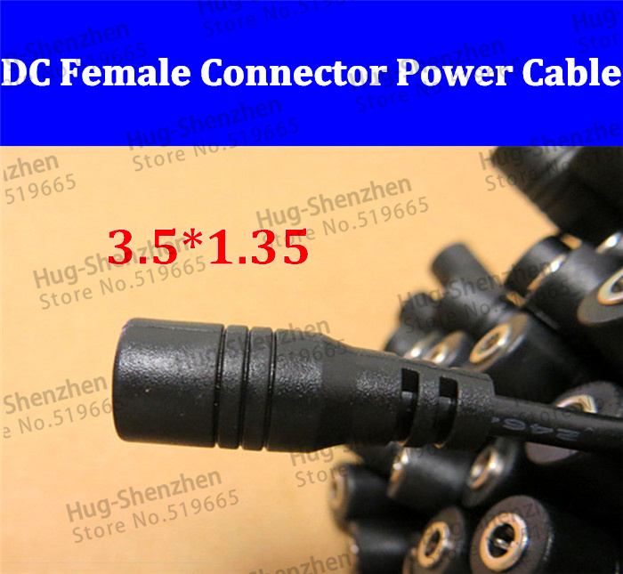 30cm DC power female connector power cord cable size 3.5*1.35 Power female Plug Connector for Monitoring.led light--15pcs(China (Mainland))