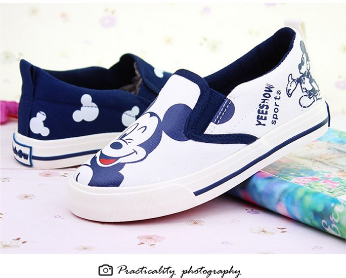 2016 New Spring Cartoon Children Shoes Brand Canvas Rubber Boys Girls Sneakers Comfortable Slip On Kids Shoes Child Footwear 427 (11)