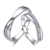 ZOCAI  LOVE ENCOUNTER NATURAL 0.15 CT CERTIFIED H / SI DIAMOND WEDDING BAND RING ROUND CUT 18K WHITE GOLD JEWELRY Q00440A