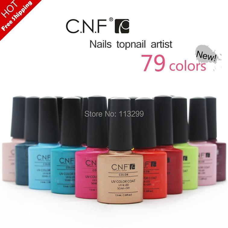 79 Pretty Colors!! + 2 CNF Soak UV/LED Nail Art Gel Polish (1Colors +2Base Coat+ 2Top Coat) - NAIL GEL SPACE store