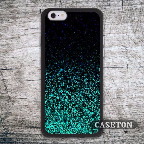 Green Black Glitter Case For iPhone 7 6 6s Plus 5 5s SE 5c and For iPod 5 High Quality Classic Cover Retail Wholesale