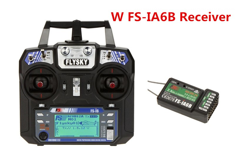 Top Quality Flysky FS-i6 AFHDS 2A 2.4GHz 6CH Radio System Transmitter for RC Helicopter Glider with FS-iA6 Receiver