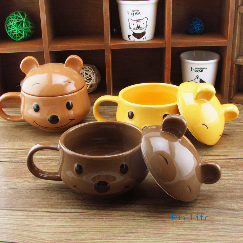 Fun Life Cute little Bear Creative Prescription coffee mug Ceramic RX drug Coffee cups Medicine Drinking mugs AF9198(China (Mainland))