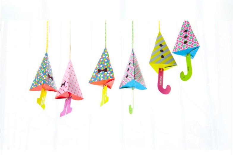 6pc Hanging Umbrella Candy Box Treat Box Cone Box Umbrella Box Baby Shower Favors(China (Mainland))