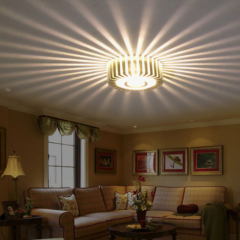 Home LED 3W Hall Light Walkway Porch Decor Lamp Sun Flower Creative LED Ceiling Lights free shipping(China (Mainland))