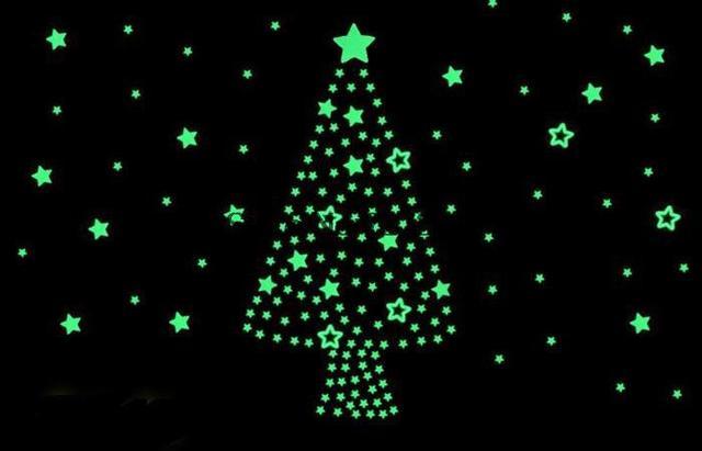 100 шт. световой Noctilucent стены склеить домашнего декора дети подарочные детская комната светятся в темноте звезды на стены для детей