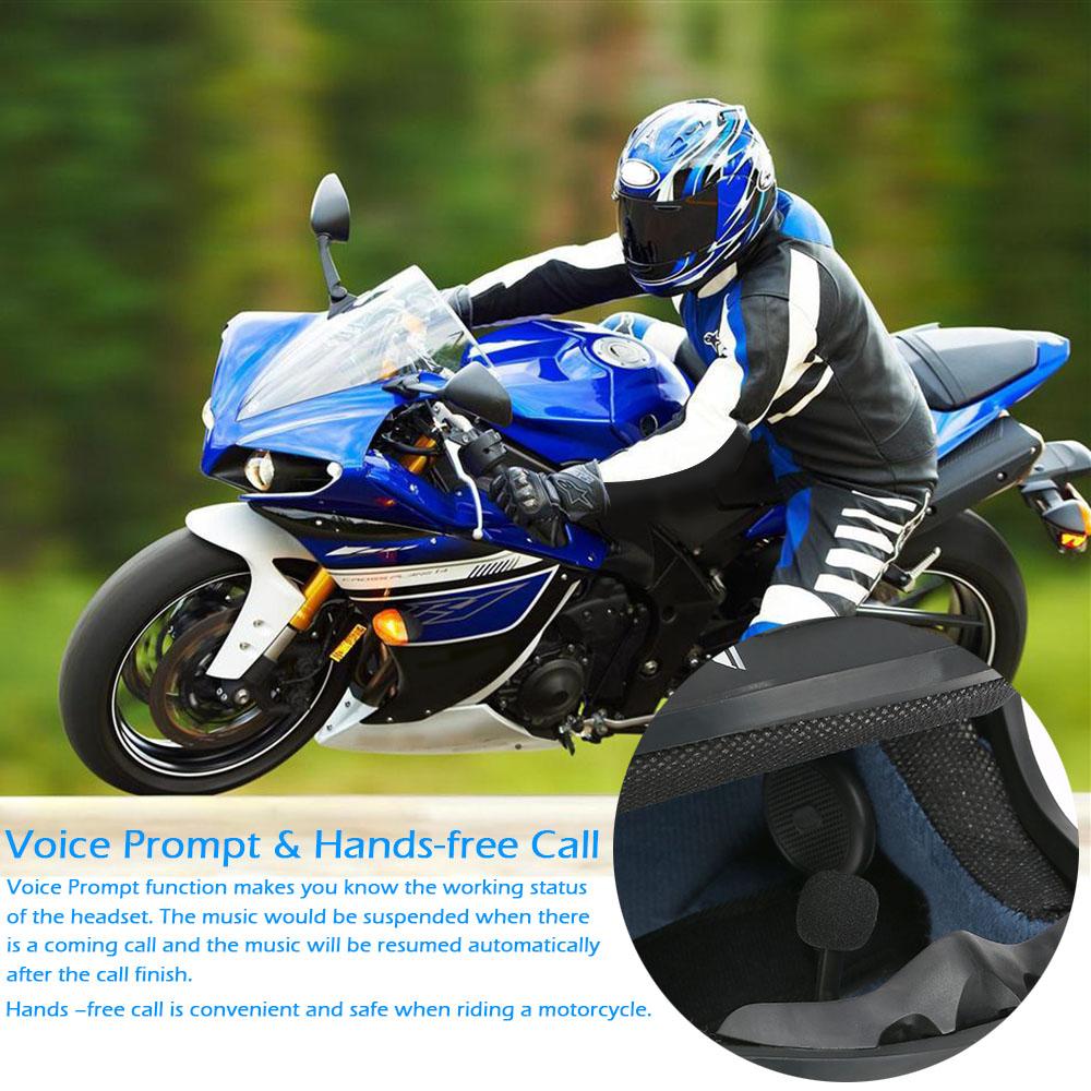 Freedconn MINUS Wireless Bluetooth Headset Motorcycle Helmet Headphone Bluetooth Stereo Music Earphone Handsfree w/Mic for Phone