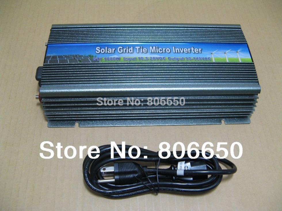 1000W 12V-110V micro grid tie inverter for solar home system, MPPTfunction Grid tie power inverter 1000W(China (Mainland))