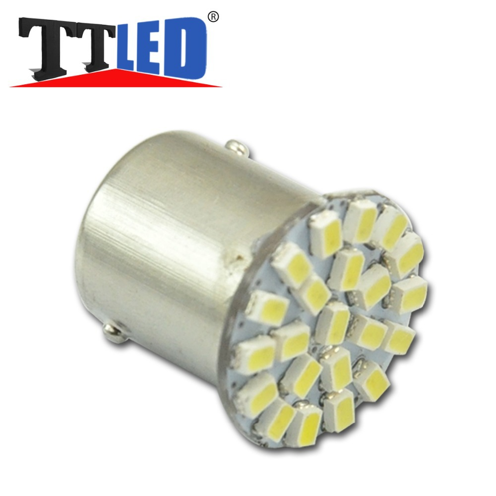 10 X S25 1156 1157 BA15S BAY15D 22 SMD 1206 3020 LED Wedge Car turn signal Reverse Parking led bulb 12V White Free shipping#TF01<br><br>Aliexpress