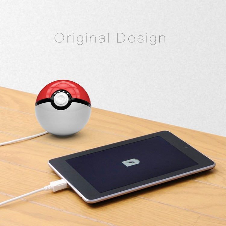 12000mAh Pokeball Go Power bank Pokeball Powerbank LED Quick Phone Charge Power Bank Cartoon 3D External Battery