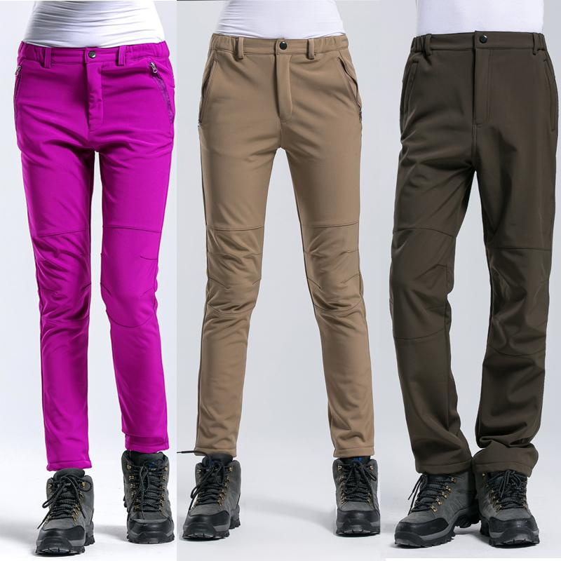 Outdoor Pants Men Women Waterproof Pantalones Warm Fleece Hiking Trekking Pants Climbing Camping Sport Softshell Mujer Trousers