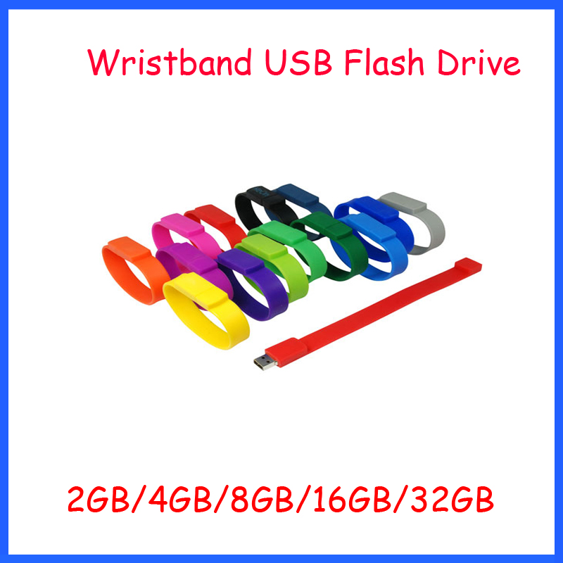 ! Silicone Wristband USB Pendrive Bracelet Flash Drive 2GB 4GB 8GB 16GB 32GB Disk Thumbdrive Memory - Ashintar Store store