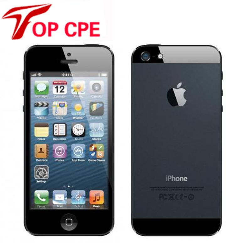 Unlocked Original Apple iPhone 5 Dual-core 1G RAM 16GB/32GB/64GB ROM 4.0 inches 8MP Camera WIFI GPS 3G IOS System GSM Cell Phone(China (Mainland))