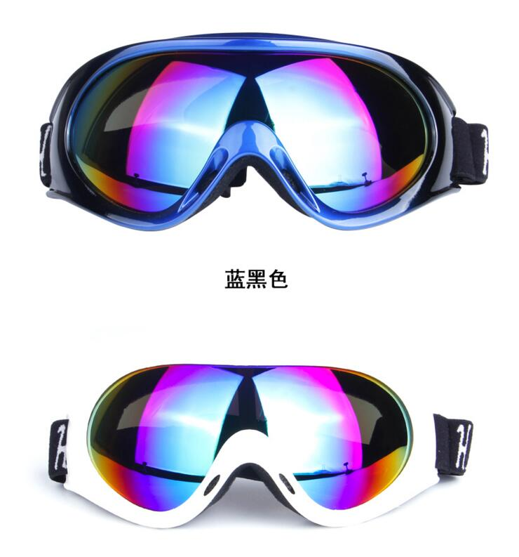 2016 NEW obaolay Anti Fog Protective Glasses Snow Goggles Outdoor Sports Snowboard black and white(China (Mainland))