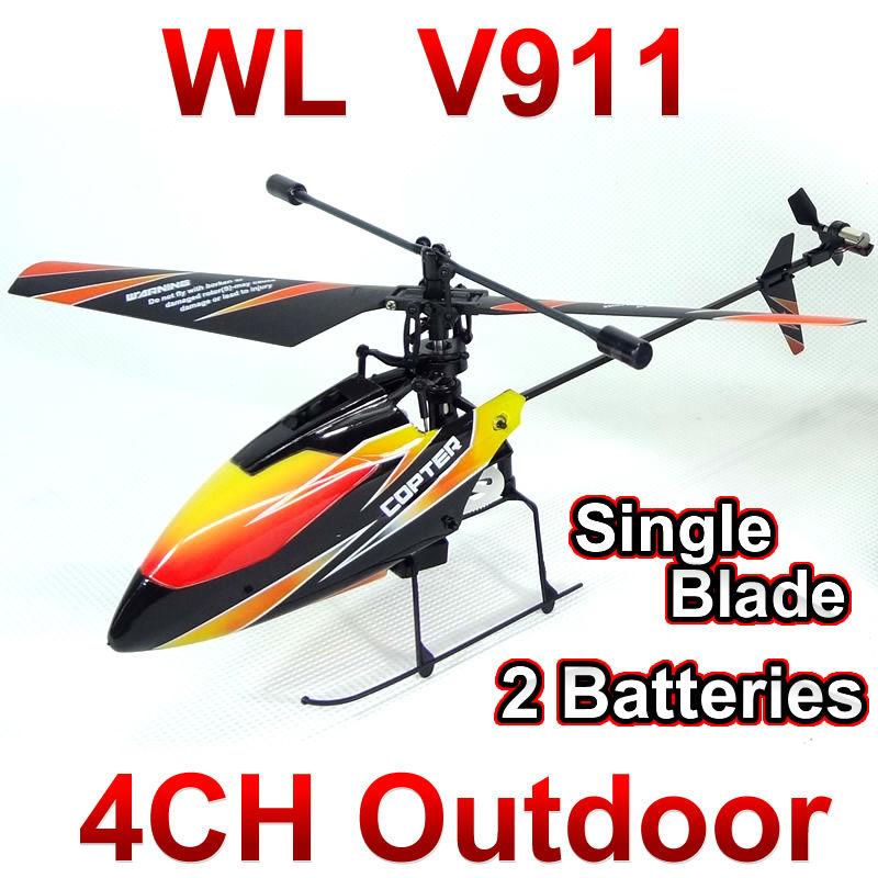 WL toys V911 4CH 2.4GHz Radio Control Helicopter RTF,Single Blade RC Helicopter Gyro,Perfect mini wltoys FSWB(China (Mainland))