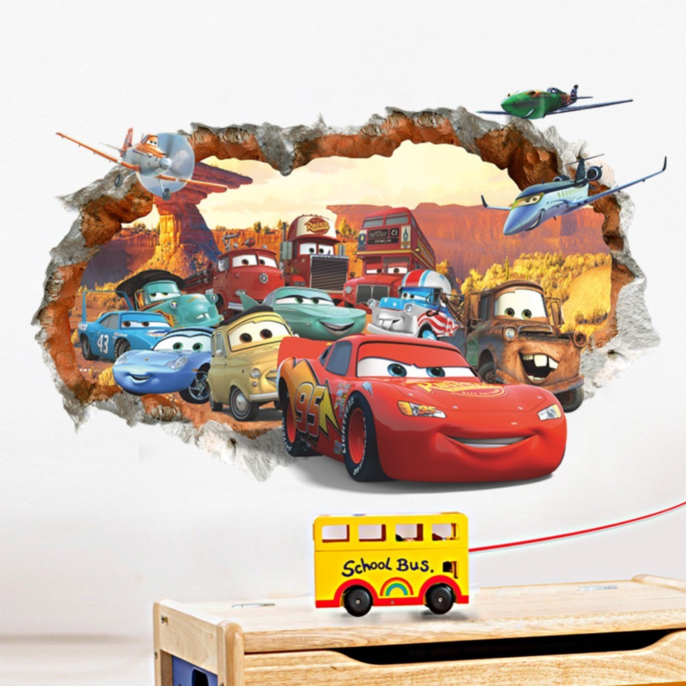 Free shipping rusteze racing cars mack mater wall stickers for Decoration murale 1 wall