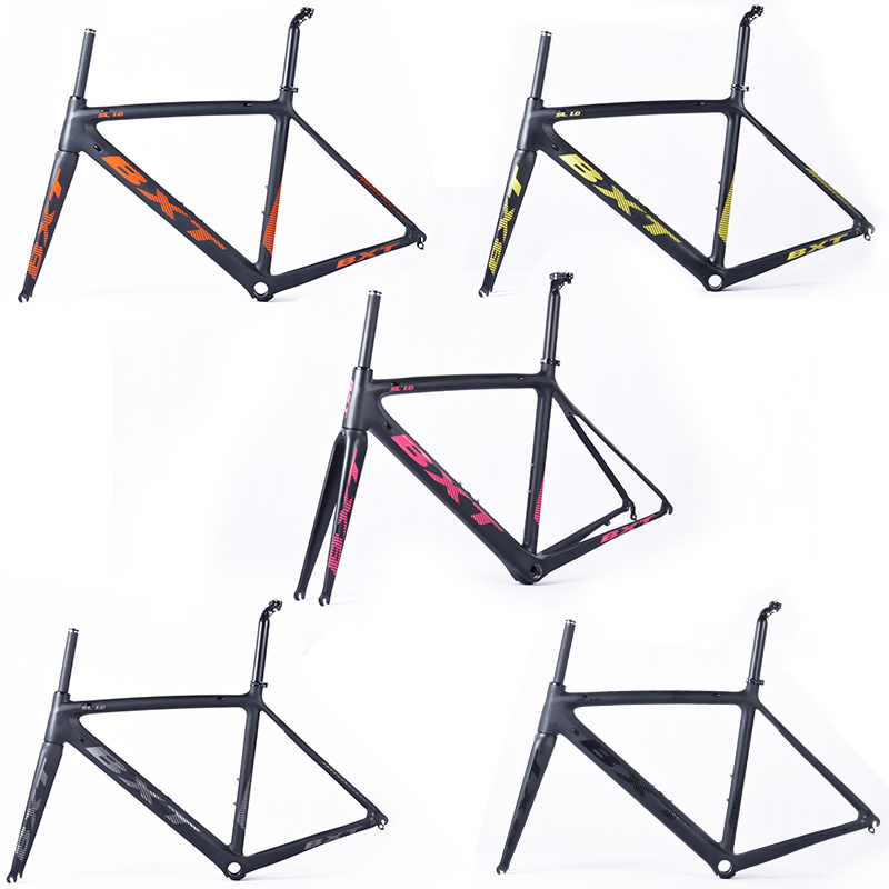Carbon Road Bicycle Frame + Fork + Seat Post Carbon Fiber Toray T800 UD Matte Bike Frame Suitable 700c Wheels Tapered Integrated(China (Mainland))