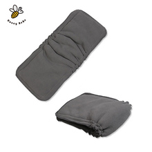 5Layers 1Pcs Bamboo Charcoal Fiber Diapers Soft Cotton Cloth Diaper Reusable Nappies Inserts Nappy Changing Mat(China (Mainland))