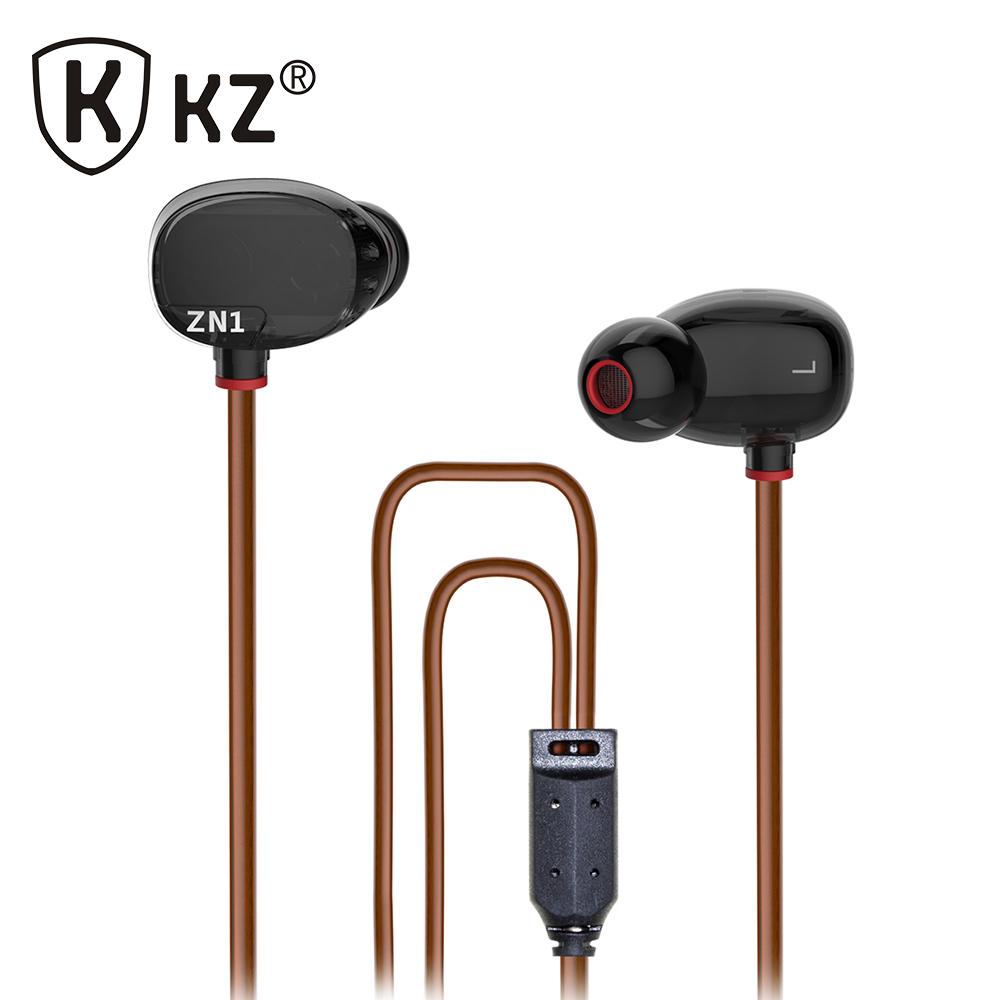 KZ ZN1 Earphone Double Modular HiFi dj Tuning Noise Cancelling Sensor In-Ear Earphones mp3 player DJ fone de ouvido auriculares(China (Mainland))