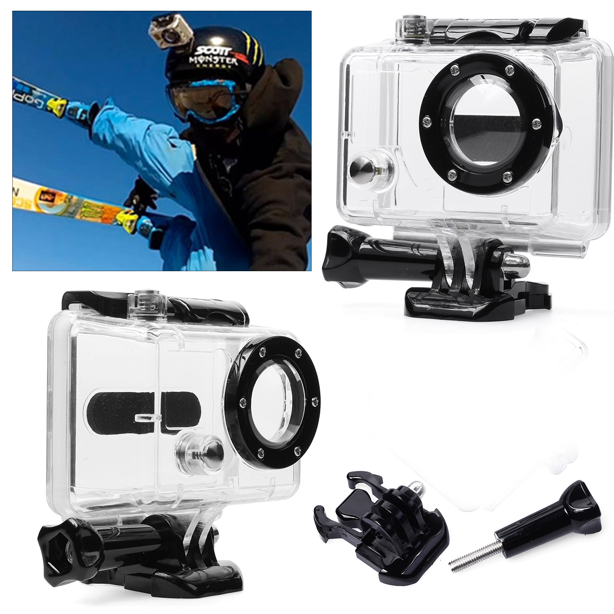 Underwater Waterproof Protective Housing Case for GoPro Hero 2 Camera OS084(China (Mainland))