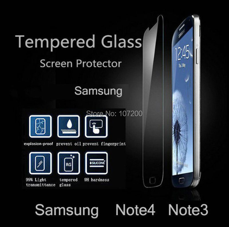 ShenZhen Ultrathin Tempered Glass Clear Screen Protector Case Samsung Galaxy S3 S4 S5 Note 3 4 S6 Reinforced Film+Retail box - Lino Electronics Mall store