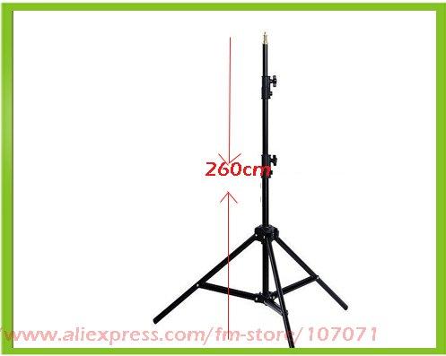 Фотография Tripods 260cm Portable Photo Studio Light Stand For DSLR Camera/Speedlite Softbox for Vertical Load: 7KG