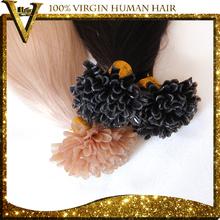7A Remy Peruvian Hair Keratin Nail/U Tip Human fusion hair extension 1g/strand Pre Bonded (China (Mainland))