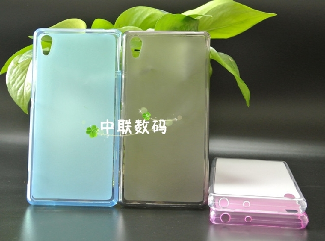 Wholesale Candy color clear soft TPU pudding Mobile Phone case for Sony Xperia Z3v Verizon z3v L55U case,10pc/(China (Mainland))