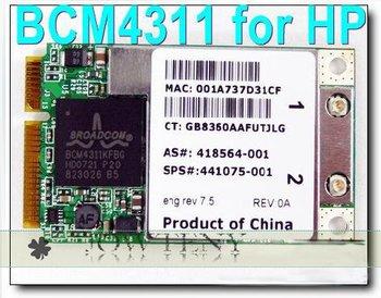 Free shipping + Brand New Mini PCI-E BCM4311 Wireless WiFi Card Lan For HP 441075-291 6515b dv6000