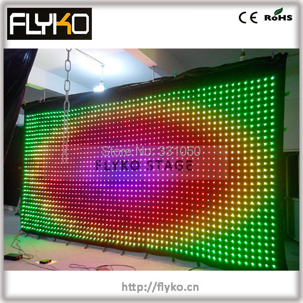 Free shipping P10 3*6M LED video curtain display gif,jpg, text words with flightcase(China (Mainland))