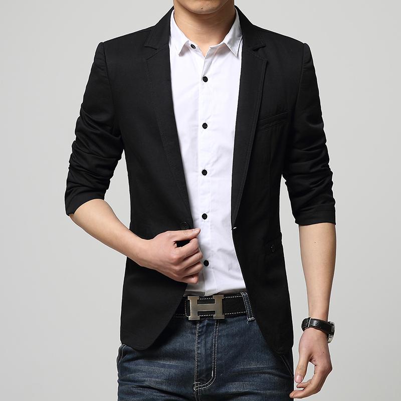 Slim Fit Veste Casual Men New Blazer Suit 2015 Homme Arrival qXWYpw4cI
