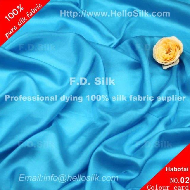 F.D.Dyed real habutai soft goods
