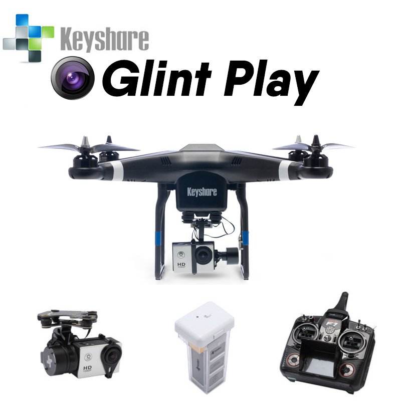 Keyshare Glint Play Quadcopter with Gimbal 1080P HD Camera Support Gopro camera one key return GPS