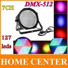 Professionale ac 90-240 v 127 rgb effetto luce led dmx512 7 canale par luci dmx 512 della discoteca del dj della fase del partito della luce ue o spina degli stati uniti(China (Mainland))