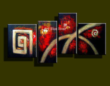 Buy 4 panel modern canvas art decorative picture canvas wall art abstract oil painting handmade canvas interior home decoration for $50.15 in AliExpress store