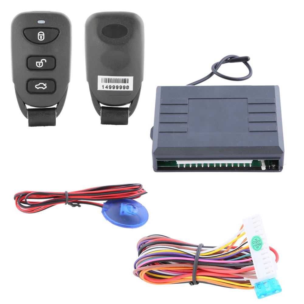Universal car keyless entry kit auto remote central door locking, LED indicator and negative power window output(China (Mainland))