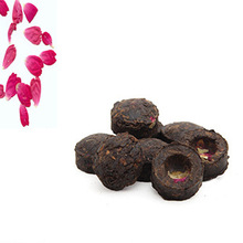 Top 15pcs Rose Flavor Puerh Tea Beauty Puer Ripe cake the teas China Health Care Food