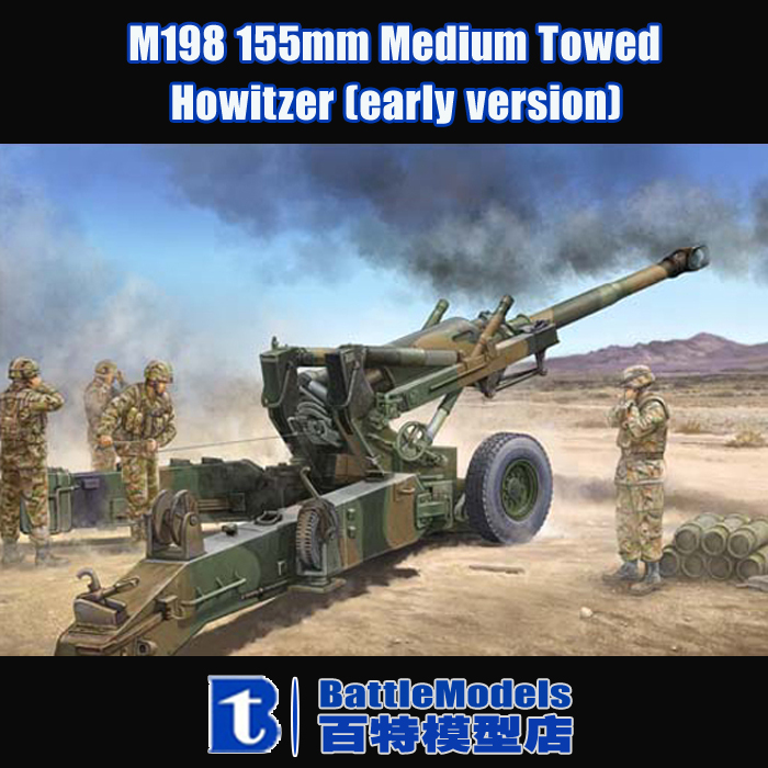 Trumpeter MODEL 1/35 SCALE military models #02306 M198 155mm Medium Towed Howitzer (early version) plastic model kit(China (Mainland))