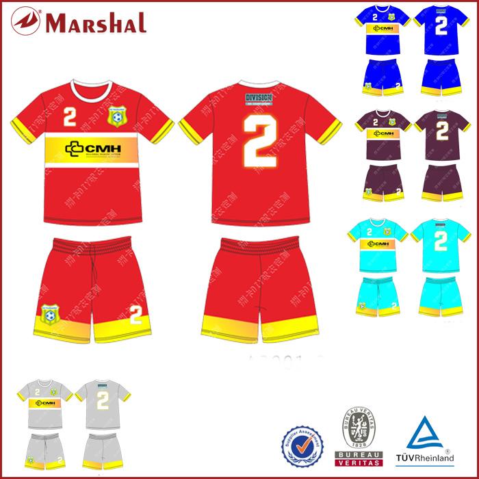 Wholesale O Neck Short sleeve Soccer Jersey Custom Cheap Sublimation Soccer Clothing(China (Mainland))
