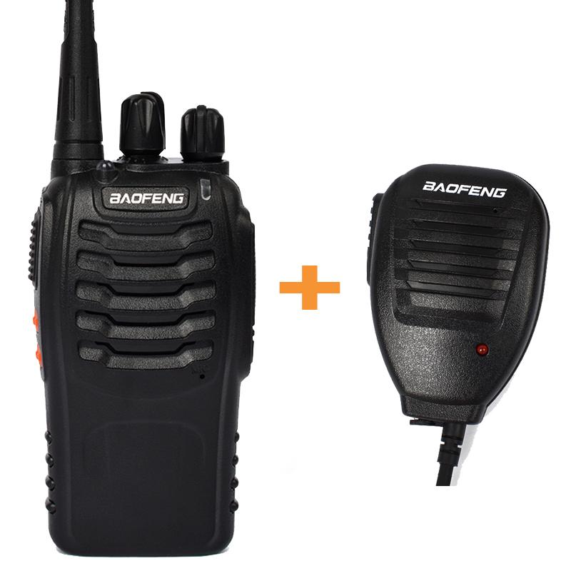 Baofeng 888S ham uhf 1500mAh Li-ion walkie talkie amateur handheld radio interphone communicador transceiver+handheld microphone(China (Mainland))